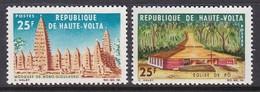 PAIRE NEUVE DE HAUTE-VOLTA - MOSQUEE DE BOBO-DIOULASSO ET EGLISE DE PO N° Y&T 154/155 - Mosquées & Synagogues