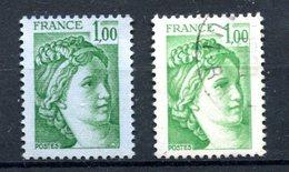 Variété Sabine De Becquet - Yvert 1973 - Papier Bleuté - T 806 - 1977-81 Sabine De Gandon