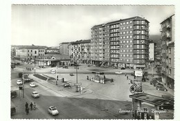 "2734 ""TORINO-PIAZZA BENGASI-DISTRIB. ESSO-CALTEX-FIAT500,600,1100-AUTOCARRI-PESO PUBBLICO"" CART. POST. ORIG. NON SPED. - Places & Squares"