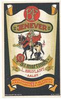Aalst - Jenever - Likeurstokerij Sint Martinus L.Bruylant  Aalst - 16 Cm X 9 Cm - Autres