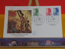 Liberté D'Eugène Delacroix - Paris - 1.8.1985 FDC 1er Jour N°1433 - Coté 7€ - FDC