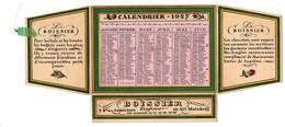 Calendrier à Rabats 1927 Boissier Confiseur Chocolatier Bd Des Capucines Avenue Malakoff Famille Fleurs - Petit Format : 1921-40