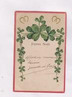 CPA , FANTAISIE  EN RELIEF (gauffree)  , TREFFLE   En 1905! - Autres