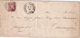 ALLEMAGNE 1875 LETTRE DE CASSEL - Briefe U. Dokumente