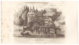 1844 - Gravure Sur Bois - Bazouges-sur-le-Loir (Sarthe) - Un Moulin - FRANCO DE PORT - Prints & Engravings