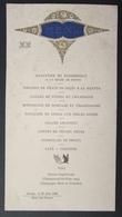 Ancien Menu Gaufré Du 30 Août 1930 - Orange (84) Hôtel Des Princes - Menus