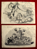 768/  2 CPA ILLUSTREES  SA MAJESTE CARNAVAL XXIX Et LE MOULIN - 1901 - NICE ALPES MARITIMES 06 - Carnaval
