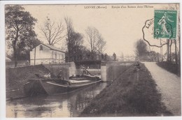 51 LOIVRE Entrée D'un Bateau Dans L'écluse ,péniche ,navigation Fluviale ,canaux ,tampon Ambulant Convoyeur Ligne Laon - Autres Communes