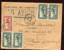 Maroc - Enveloppe Par Avion De Rabat Pour Paris En 1938 - Prix Fixe - Réf F43 - Maroc (1891-1956)