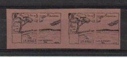Vignettes Aviation La Baule 2/11 Sep 1922 - Essais Non Dentelé, Sans Charnière - Noir Sur Bistre Brun - Erinnophilie