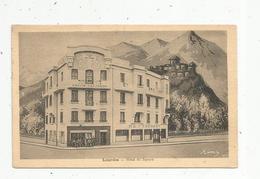 Cp ,hôtels & Restaurants , 65 ,Lourdes, HOTEL DU SQUARE , Voyagée 1933 - Hotels & Restaurants