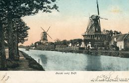 Delft, Windmills, Molens Bij Delft. - Watermolens