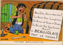 Humour - Cpm / Prière Beaujolaise. - Humour