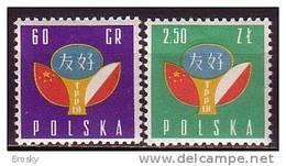 PGL - POLAND Yv N°988/89 ** - 1944-.... République