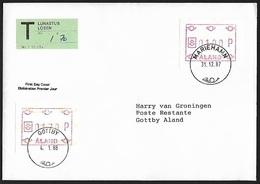 1988 - ALAND - Cover [FDC] + Michel AT1 + MARIEHAMN & GOTTBY - Aland