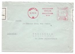 DEVISENÜBERWACHUNG - Brief Von Berlin Nach Stockholm An Sven Von Hedin,  1939 - Deutschland