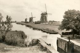 Leidschendam, 3 Windmills, Bovenkruiers, Real Photo - Watermolens