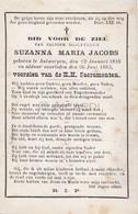 Doodsprentje Suzanna Maria Jacobs °1816 Antwerpen †1883  (B91) - Obituary Notices