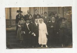 Cp , Carte Photo , Couple ,mariage ,mariée ,marié,chapeaux , écrite - Couples