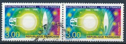 France - 50 Ans D'EDF-GDF YT 2996 Obl. (paire Horizontale) - France