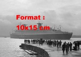 Reproduction D'une Photographie Ancienne Du Paquebot France Arrivant à Southampton - Reproductions