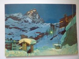 "Cartolina Viaggiata  ""CERVINIA  Notturno"" 1978 - Italia"