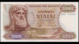 GREECE 1970 1000 DRACHMAS BANKNOTE AUNC - Greece