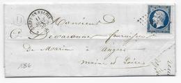 1856 - OISE - LETTRE De BONNEUIL Avec BOITE RURALE D + PC 1028 De CREPY EN VALOIS - Marcophilie (Lettres)