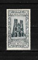 Francia Viñeta De La Bella Francia Catedral De Neims Nuevo Con Charnela - Commemorative Labels