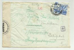 FRANCOBOLLO 25 DEUTSCHES REICH GRAZ 1940 RETRO TIMBTO ALKMAAR - STRISCIA OBERKOMMANDO SU BUSTA MANOSCRITTA - Germany