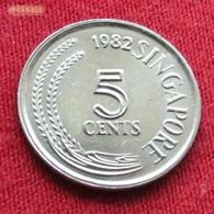 Singapore 5 Cents 1982 KM# 2 Singapura Singapur Singapour - Singapour