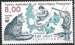 TAAF 1999 N° 242 Neuf Programme Pop Chat Aux Kerguelen - Chats Domestiques