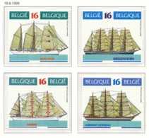 D - [153596][2608/11] Belgique 1995, Bateaux Divers, Grands Voiliers, SC, SNC - Bateaux
