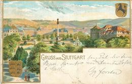 ALLEMAGNE - GRUSS AUS STUTTGART - Schlossplatz - Stuttgart