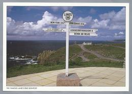 UK.- LAND'S END. SPECIAL GREETINGS FROM CORNWALL. THE FAMOUS LAND'S END SIGNPOST. - Land's End