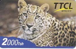 TARJETA DE TANZANIA DE 2000 TSH  DE TTCL DE UN LEOPARDO (LEOPARD) RARA - Tanzania