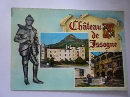 """Cartolina Viaggiata  """"CHATEAU DE  ISSOGNE"""" 1956 - Italia"""