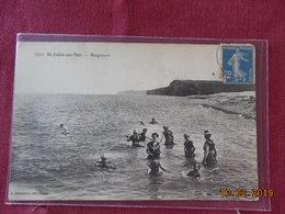 CPA - Saint-Aubin-sur-Mer - Baigneurs - Saint Aubin