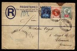 A5892) UK R-Brief Mit 3-Farben-Frankatur 22.08.90 Mit Perfins - 1840-1901 (Victoria)