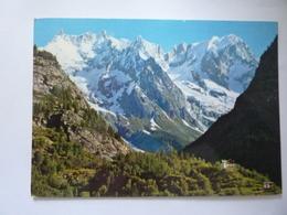 """Cartolina Viaggiata  """"COURMAYEUR Catena Del Monte Bianco"""" 1970 - Italia"""