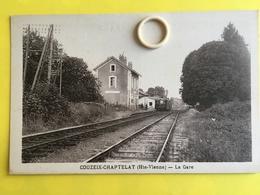CPA  De  COUZEIX - CHAPTELAT   ( 87 ) La  Gare    (  B )   (  BCPAHV5921 ) - Autres Communes