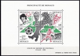 1990, Monaco, 1963/66 Block 48, Fußball-Weltmeisterschaft, Italien. MNH ** - Blocks & Kleinbögen