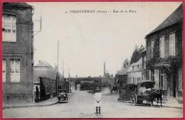 CPA 02 ESQUEHERIES Aisne - Rue De La Place - Autres Communes