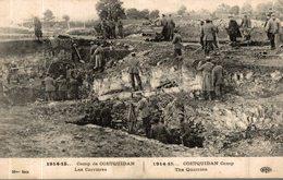 CAMP DE COETQUIDAN LES CARRIERES - Guerre 1914-18