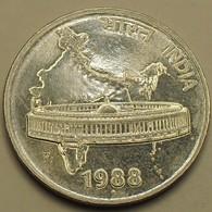 1988 - Inde République - India Republic - 50 PAISE, Parlment, Mumbay Mint, KM 69 - Indien
