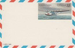 USA 1985 China Clipper Postcard Unused (41868D) - Postwaardestukken