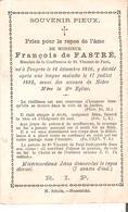 Faire-part Décès Mr; François De FASTRE Tongres 16/12/1816 - Druk. Schools Maestricht - Décès