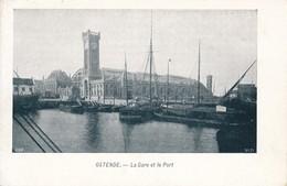 CPA - Belgique - Oostende - Ostende - La Gare Et Le Port - Oostende