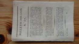 Bulletin Des Lois 67  Brumaire An XIV 1806   12 Pages - Decrees & Laws