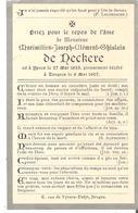 Faire-part Décès Mr. Maximilien De  NECKERE Tongres 6/5/1907 - Décès